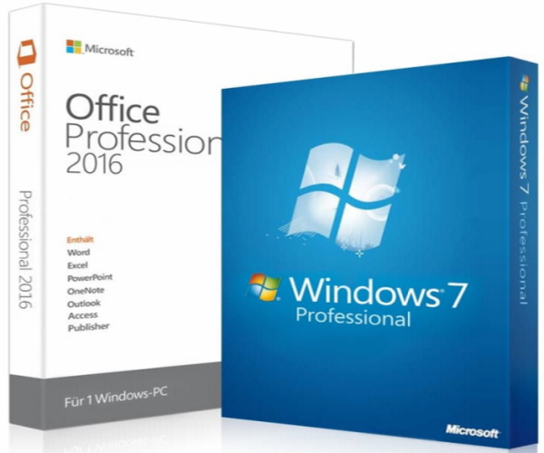Windows 7 Professional + Office 2016 Professional Plus